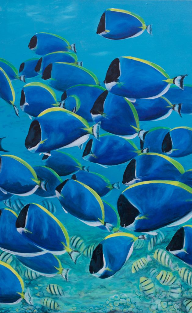 (No53) Acanthuridae [ Acrylic on Canvas ] 75cm x 120cm