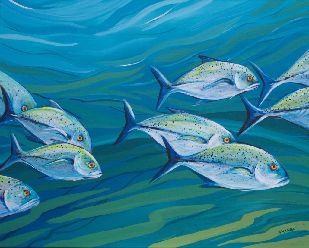 (No78) Trevally [ Acrylic on Canvas ] 45cm x 65cm